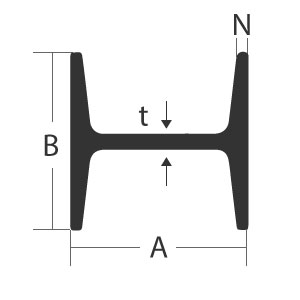 6061-T6 Structural H Beam