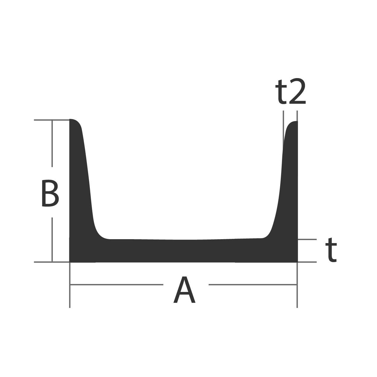 Aluminum Channel 6061 T6 Structural 15 A X 3 4 B X 0 4